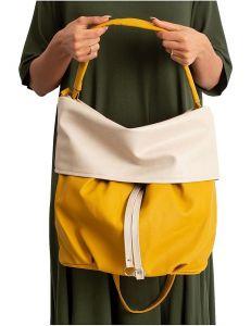 žluto-béžová shopper kabelka vel. univerzální 114672-406648