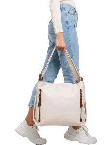Světle béžová dámská shopper kabelka vel. univerzální 114676-406652