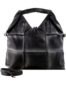 černo-stříbrná shopper kabelka vel. univerzální 114679-406655
