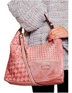 Růžová dámská shopper kabelka vel. univerzální 114680-406656