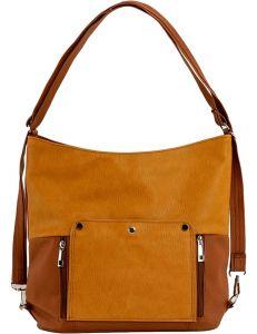 Hnědo-žlutá dámská shopper kabelka vel. univerzální 114684-406660