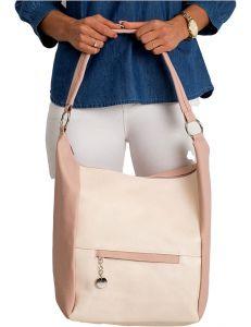 Růžová dámská shopper kabelka vel. univerzální 114686-406662