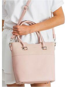 Světle růžová dámská shopper kabelka vel. univerzální 114698-406674