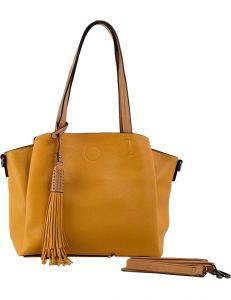 žlutá dámská shopper kabelka vel. univerzální 114700-406676