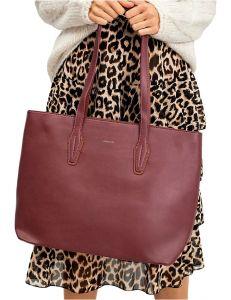 Tmavě červená shopper kabelka vel. univerzální 114708-406684