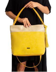 žlutá dámská shopper kabelka vel. univerzální 114714-406690