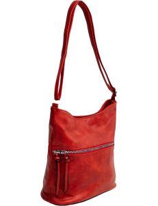 červená shopper kabelka se zipem vel. univerzální 114726-406702