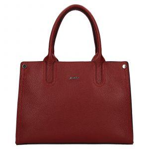Dámská kožená kabelka Rovicky Marta – tmavě červená
