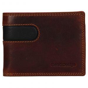Pánská kožená peněženka SendiDesign Pent – hnědo-černá