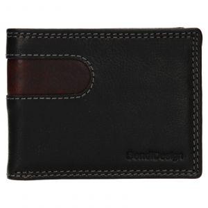 Pánská kožená peněženka SendiDesign Pent – černo-hnědá