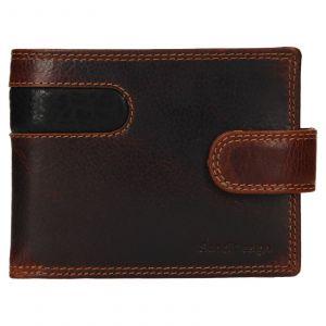 Pánská kožená peněženka SendiDesign Fion – hnědo-černá