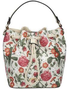 Nobo dámská bílá květovaná kabelka vel. ONE SIZE 115008-407764