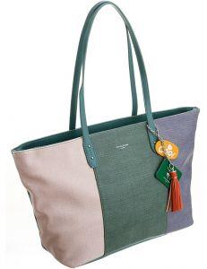 David jones zelená pruhovaná shopper kabelka cm5710 light green vel. ONE SIZE 115019-407775