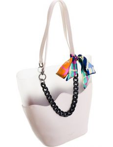 David jones dámská bílá originální shopper kabelka cm5645 creamy white vel. ONE SIZE 115020-407776