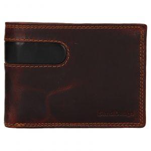 Pánská kožená peněženka SendiDesign Didier – hnědá