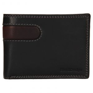 Pánská kožená peněženka SendiDesign Didier – černá