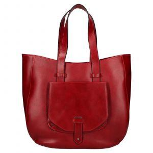 Dámská kožená kabelka Rovicky Alena – červená