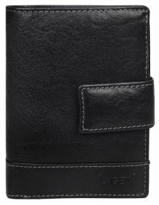 Lagen Pánská kožená peněženka Black V-27/T