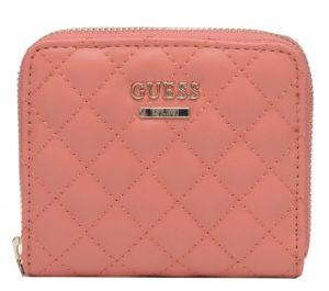 Guess Dámská peněženka Kamryn Slg Small Zip Around SWQS66 91370 Coral