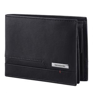 Samsonite Pánská kožená peněženka Pro-DLX 5 SLG 007 – černá