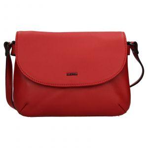 Kožená dámská crosbody kabelka Katana Felipa – červená