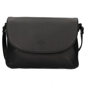Kožená dámská crosbody kabelka Katana Felipa – černá
