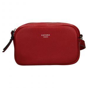 Kožená dámska ledvinko- kabelka Katana Marcels – tmavě červená
