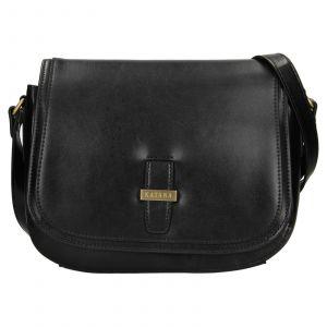 Kožená dámská crosbody kabelka Katana Vinoa – černá