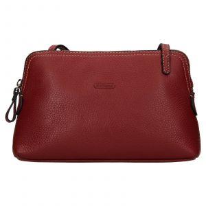 Kožená dámská crosbody kabelka Katana Mia – tmavě červená