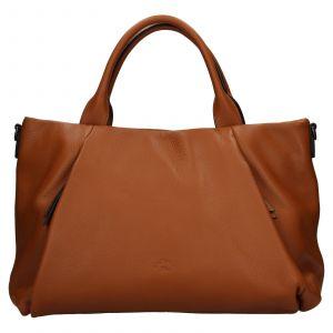 Elegantní dámská kožená kabelka Katana Stella – hnědá
