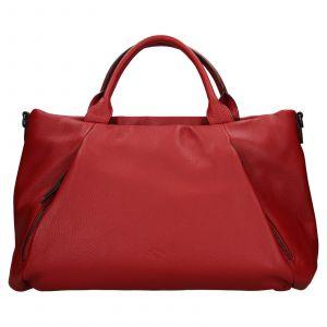 Elegantní dámská kožená kabelka Katana Stella – tmavě červená