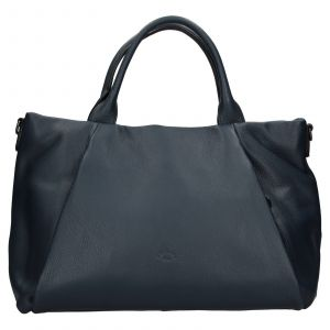 Elegantní dámská kožená kabelka Katana Stella – tmavě modrá