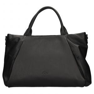 Elegantní dámská kožená kabelka Katana Stella – černá