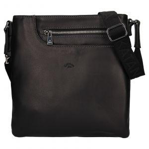 Dámská kožená crosbody kabelka Katana Zela – černá