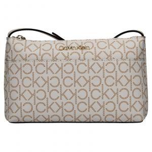 Dámská crossbody kabelka Calvin Klein Leandra – hnědo-béžová