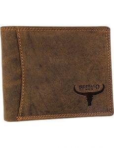 Buffalo wild hnědá pánská kožená peněženka vel. ONE SIZE 116769-413176