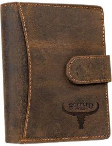 Buffalo wild hnědá pánská kožená peněženka vel. ONE SIZE 116792-413199
