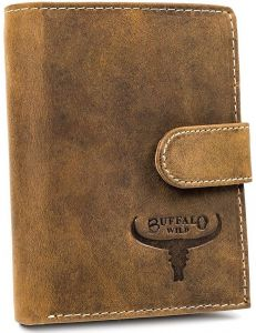 Buffalo wild pánská béžová kožená peněženka vel. ONE SIZE 116817-413224