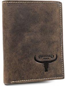 Buffalo wild hnědá pánská peněženka z přírodní kůže vel. ONE SIZE 116819-413226