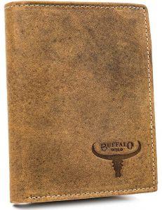 Buffalo wild pánská vertikální béžová peněženka vel. ONE SIZE 116821-413228