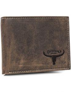 Buffalo wild hnědá pánská peněženka – horizontální vel. ONE SIZE 116822-413229