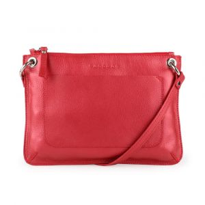 Unidax Dámská kožená crossbody kabelka Facebag Cannet 8004 – červená