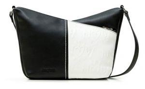 Desigual černo-bílá crossbody kabelka Bols Katya Harry Mini