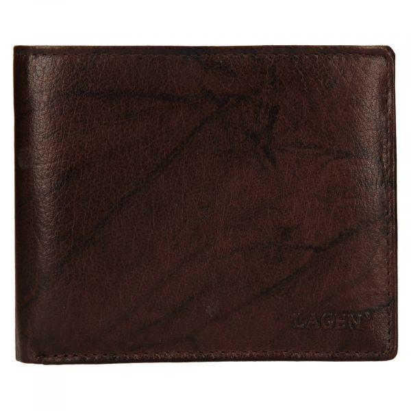 Pánská kožená peněženka Lagen Niklas – hnědá