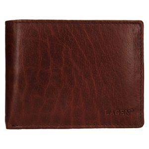 Pánská kožená peněženka Lagen Kryštof – hnědá