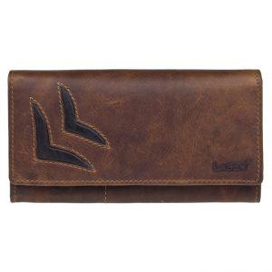 Dámská kožená peněženka Lagen Selest – hnědá