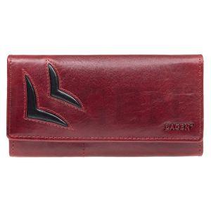 Dámská kožená peněženka Lagen Selest – červeno-černá