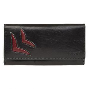 Dámská kožená peněženka Lagen Selest – černo-červená
