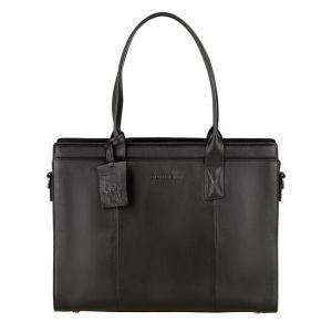 Dámská kožená kabelka Burkely Lenna – černá