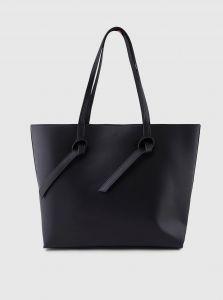 Černý shopper Pieces Genny